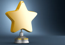 Golden star award Royalty Free Stock Image