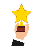 Golden star award icon Stock Images