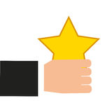 Golden star award icon Royalty Free Stock Photos