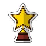 Golden star award icon Stock Image
