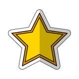 Golden star award icon Royalty Free Stock Image
