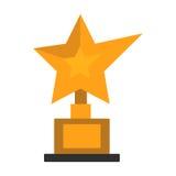 Golden star award on white vector illustration. Royalty Free Stock Photos