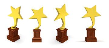 Golden star awards Royalty Free Stock Image