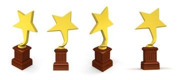 Golden star awards Royalty Free Stock Image