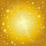 Golden star background. A illustration of a golden star background Royalty Free Stock Images