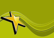 Golden Star Background Stock Photos