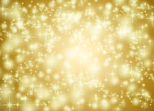 Golden star background Stock Photography