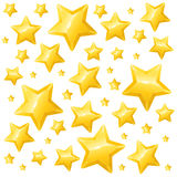 Golden Star Background Wallpaper or Card. Vector. Illustration Stock Photos