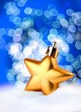 Golden star bokeh light effect Royalty Free Stock Image