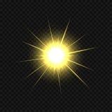 Golden star burst Royalty Free Stock Image