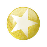 Golden star button Stock Images