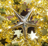 Golden star Christmas background Royalty Free Stock Images