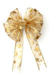 Golden star christmas bow Stock Image