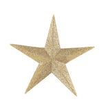Golden star christmas decoration. Stock Photo