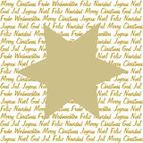 Golden star on christmas wishes Stock Images