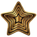 Golden star collection. Golden star isolated on white background + png transparent Stock Image