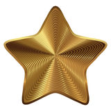 Golden star collection. Golden star and ribbon  on white background Stock Image