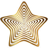 Golden star collection. Golden star and ribbon  on white background + png tranparent Stock Photos
