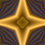 Golden star cross Stock Photography