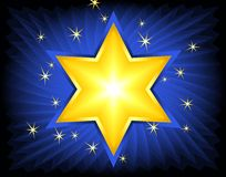 Golden Star Of David Stock Photography