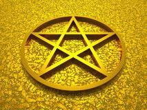 Golden Star of David Royalty Free Stock Images