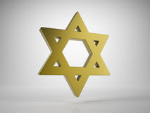 Golden Star of David Royalty Free Stock Photo