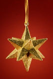 Golden star decoration Royalty Free Stock Images