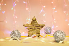 Golden star decoration Stock Image