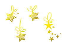Golden star decoration (set) Stock Image