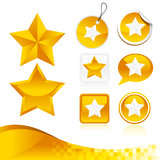 Golden Star Design Kit Stock Photography