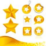 Golden Star Design Kit Stock Photography