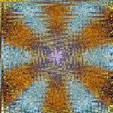 Golden star frosty glass mandala zigzag stock illustration