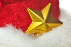 Golden star in fur Stock Images