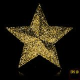 Golden Star. Gold stars confetti concept. Gold holiday background. royalty free illustration