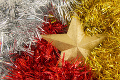 Golden star. A golden star for holiday Royalty Free Stock Photo