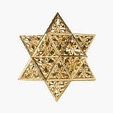 Golden star. Isolated on white Stock Photos