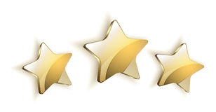 Golden Star logo icon vector white background. 