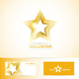 Golden star logo Stock Images