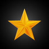 Golden star logo for your design, hand drawing vector illustration. On dark background Stock Images