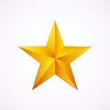Golden star logo for your design, vector illustration. Isolated on white Stock Photography