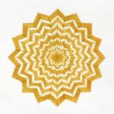 Golden Star Mandala Royalty Free Stock Image