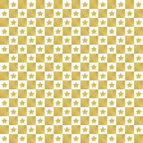Golden star pattern seamless background Royalty Free Stock Photos