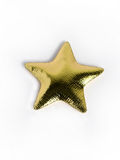 Golden star pillow Stock Photos