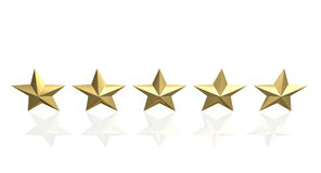 5 golden star Royalty Free Stock Images