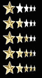 5 golden star Stock Photography