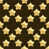 Golden star seamless. On brown background. vector illustration Stock Photo