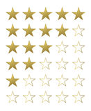Golden Star set Stock Photography
