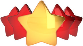 Golden star shape leadership Royalty Free Stock Images