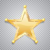 Sphere gold five star Stock Photos