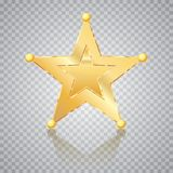 Sphere gold five stars Royalty Free Stock Photography